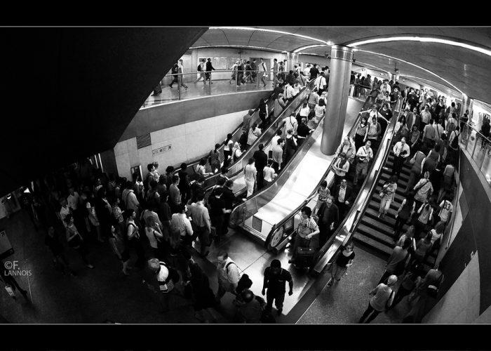 F. Lannois - foule métro